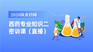 2020执业药师西药专业知识二密训课(直播)